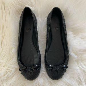 MICHAEL KORS Black Quilted Ballet Flats